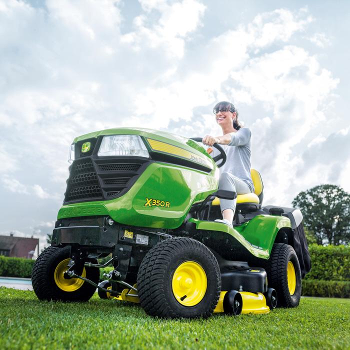 john deere x350r lawn tractor 42 rear discharge deck. Black Bedroom Furniture Sets. Home Design Ideas